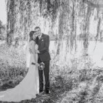 minneapolis wedding photographer bride and groom with willow tree