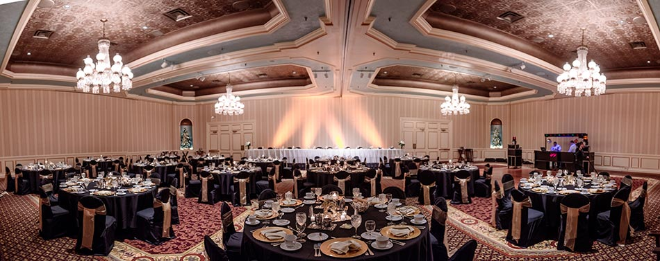 reception interior St Paul Hotel winter wedding mn