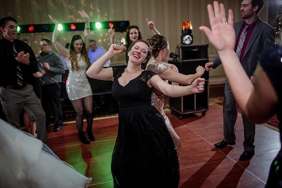 dancing St Paul Hotel winter wedding mn
