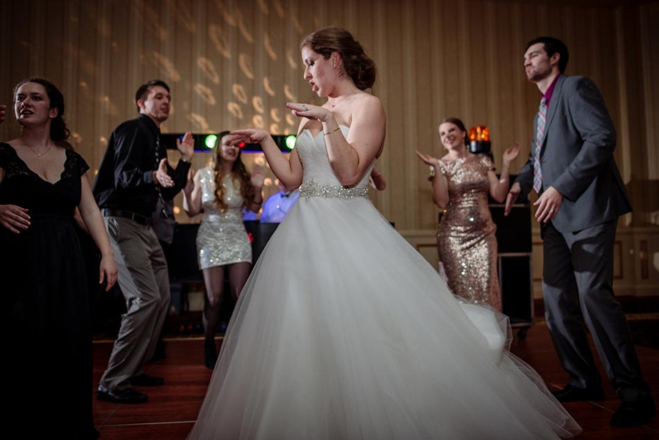 dancing St Paul Hotel winter wedding mn