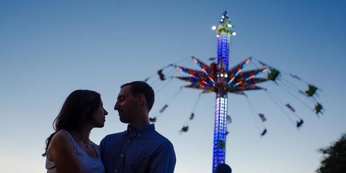 Minnesota State Fair engagement photos silhouette