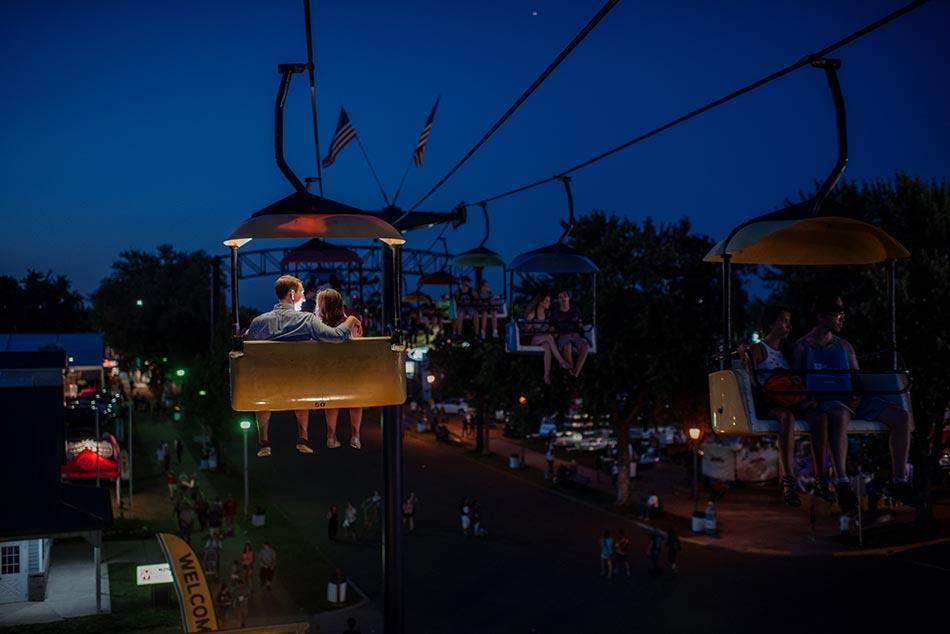 night Minnesota State Fair engagement photos