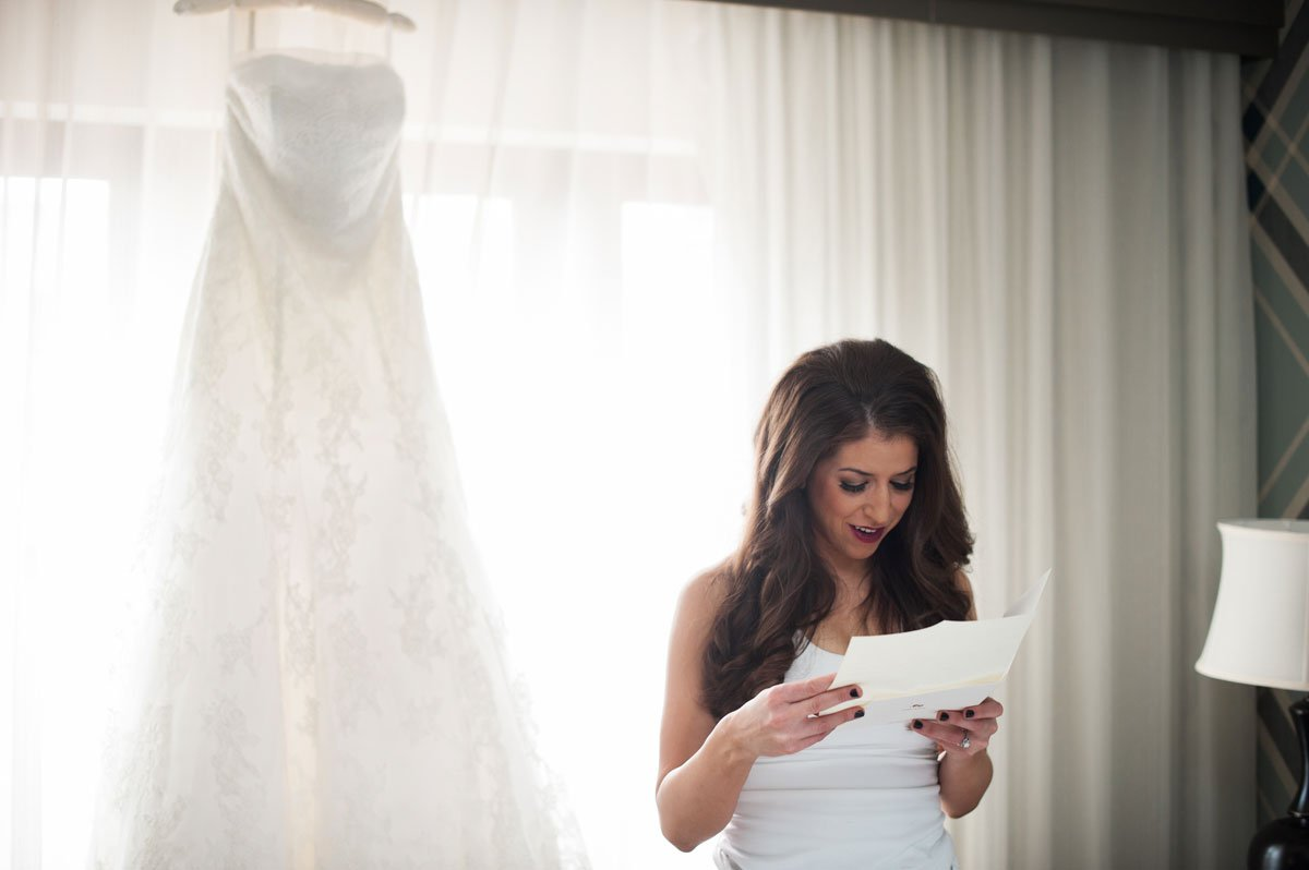 bride getting ready at commons hotel minneapolis