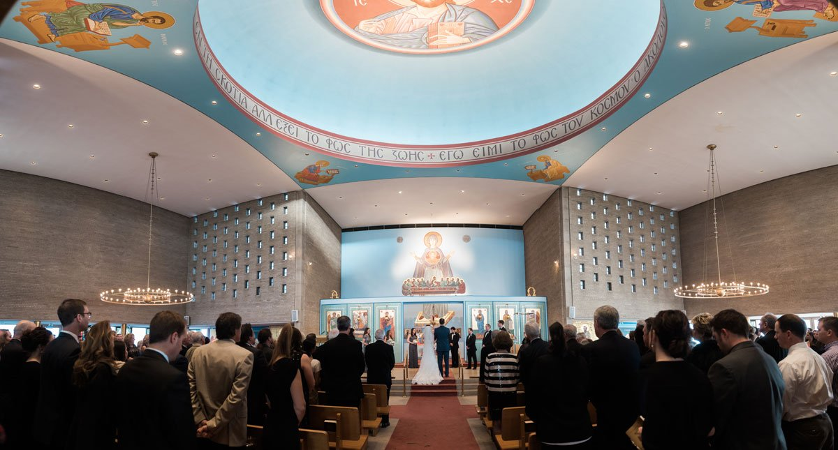 panorama interior fun minneapolis wedding st marys greek orthodox church
