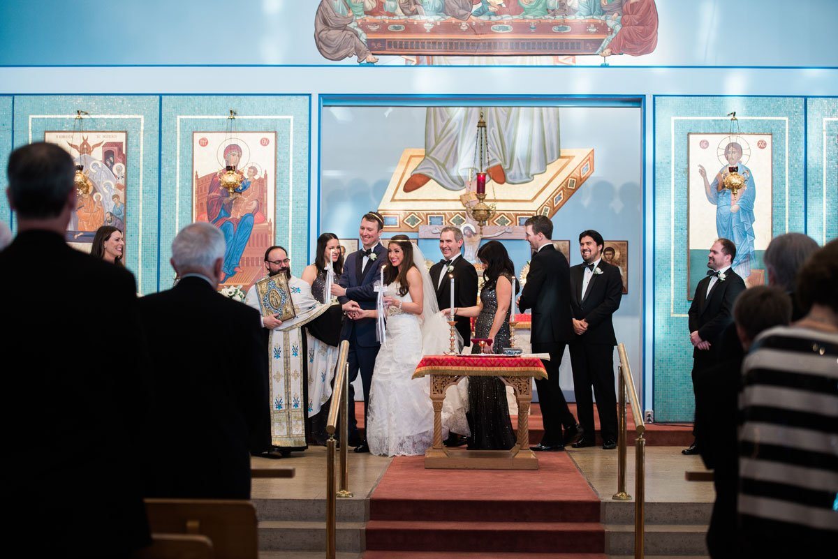 walking around dias fun minneapolis wedding st marys greek orthodox church
