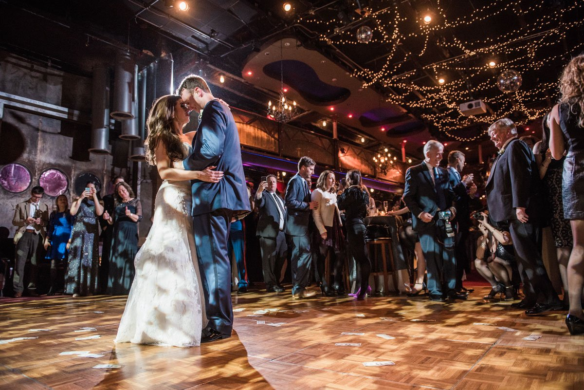 first dance fun minneapolis wedding at greek orthodox church and varsity theaterfun minneapolis wedding at varsity theater