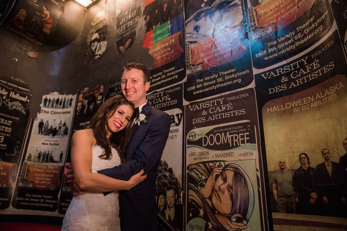 posters fun minneapolis wedding at greek orthodox church and varsity theaterfun minneapolis wedding at varsity theater