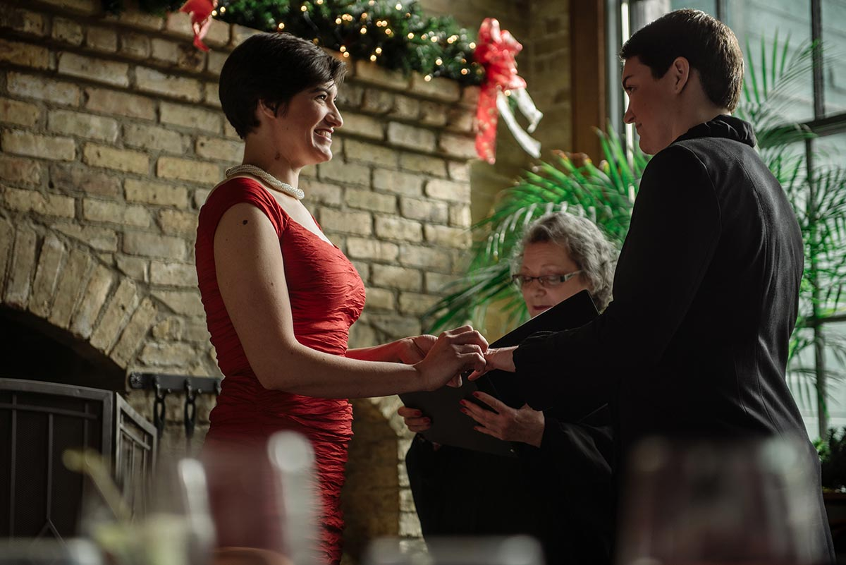 wa frost intimate winter wedding st paul mn