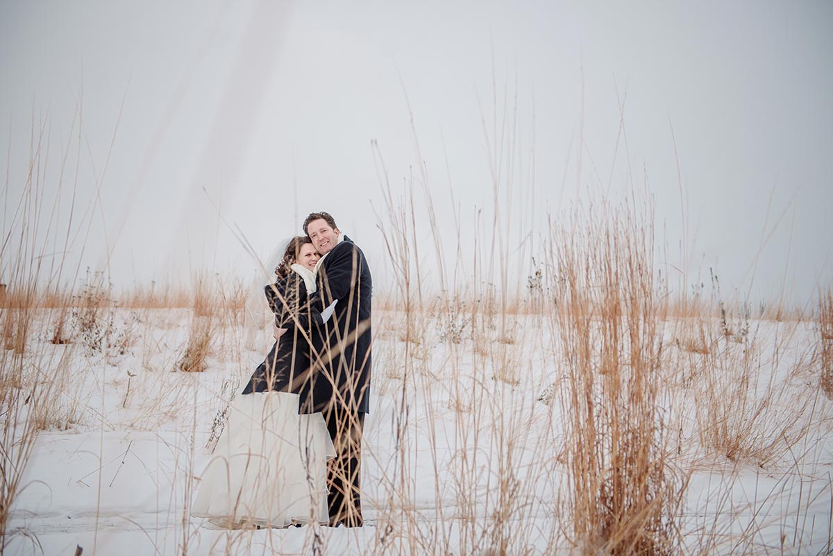 prarie grass maple grove minnesota winter wedding