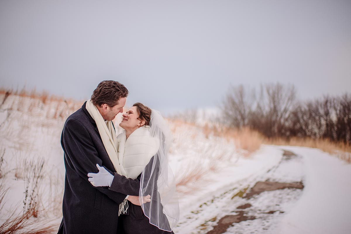 bride and groom maple grove minnesota winter wedding