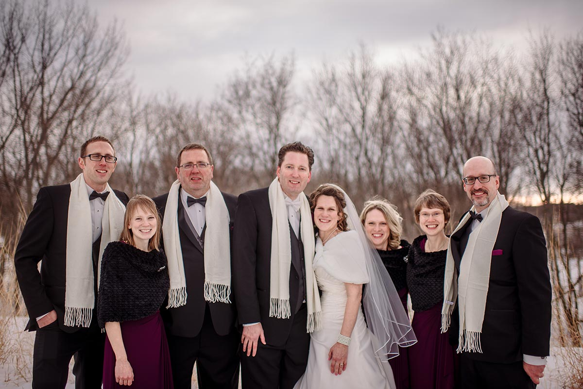 maple grove minnesota winter wedding