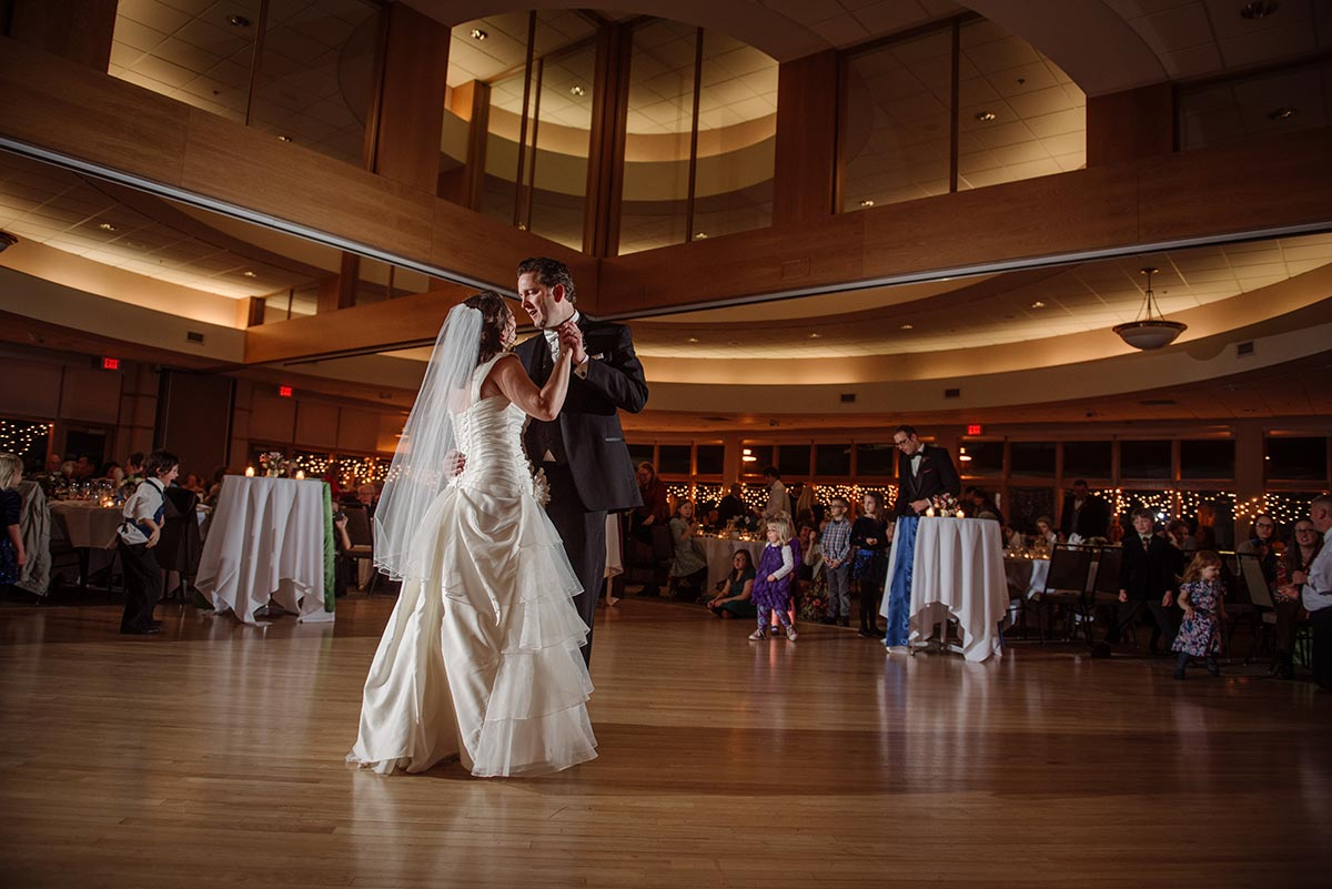 first dance maple grove minnesota winter wedding