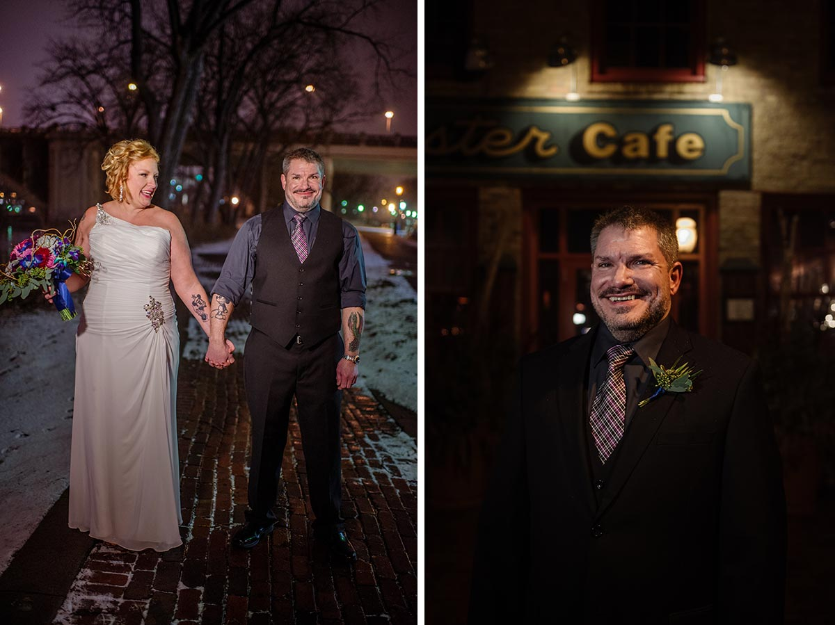 Minneapolis winter Aster Cafe Small Wedding