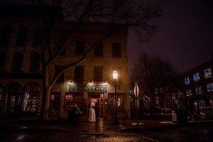 exterior Minneapolis winter Aster Cafe Small Wedding
