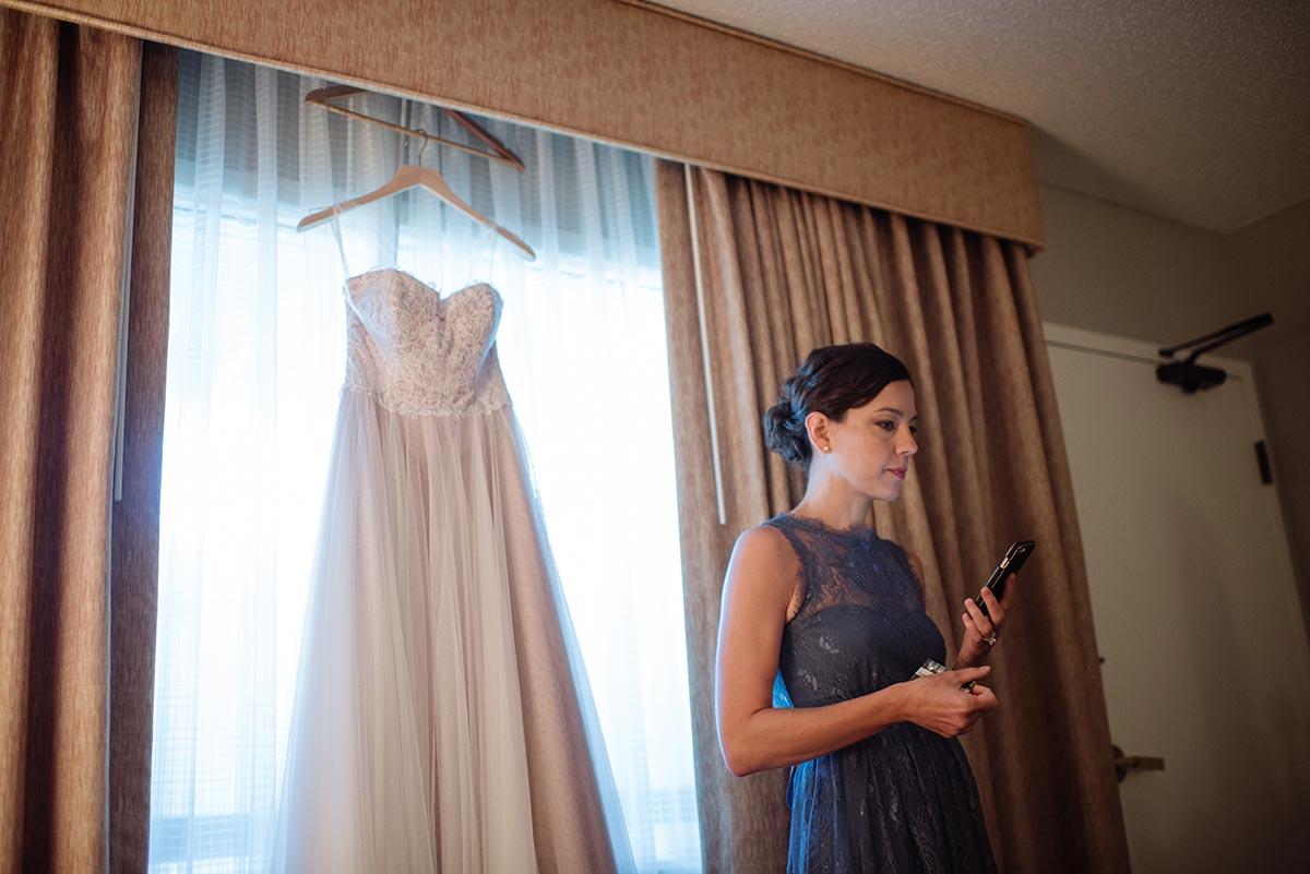dress hanging Outdoor Minneapolis Wedding