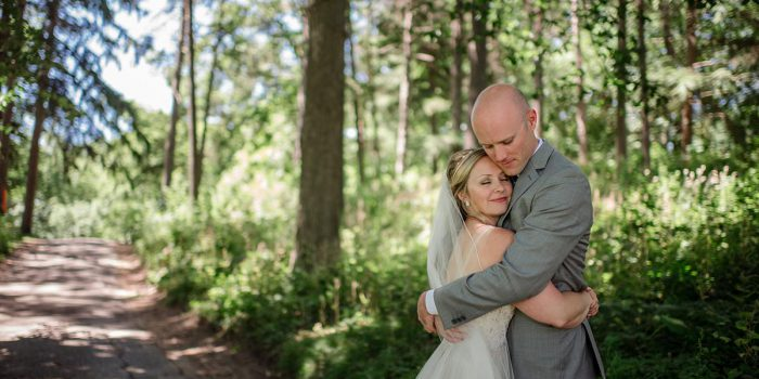 bride and groom cute Outdoor Minneapolis Wedding
