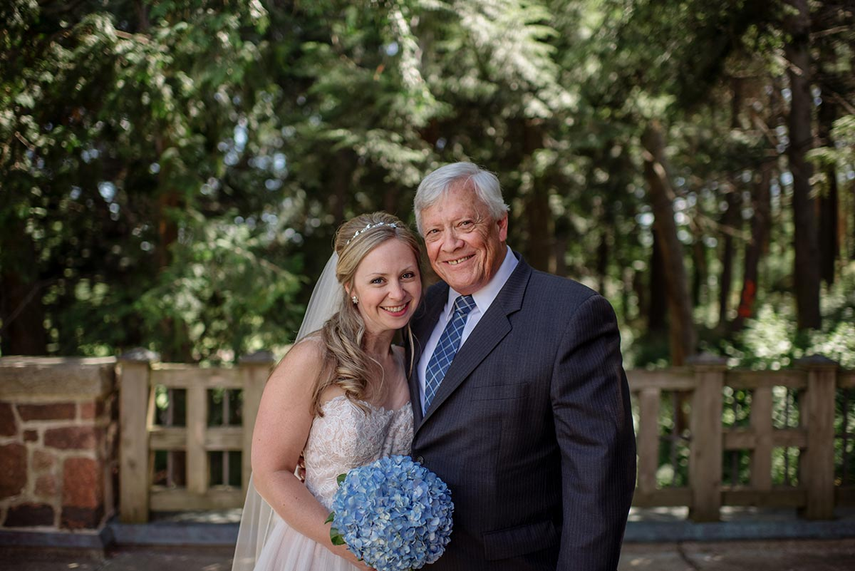 bride and father formal Outdoor Minneapolis Wedding