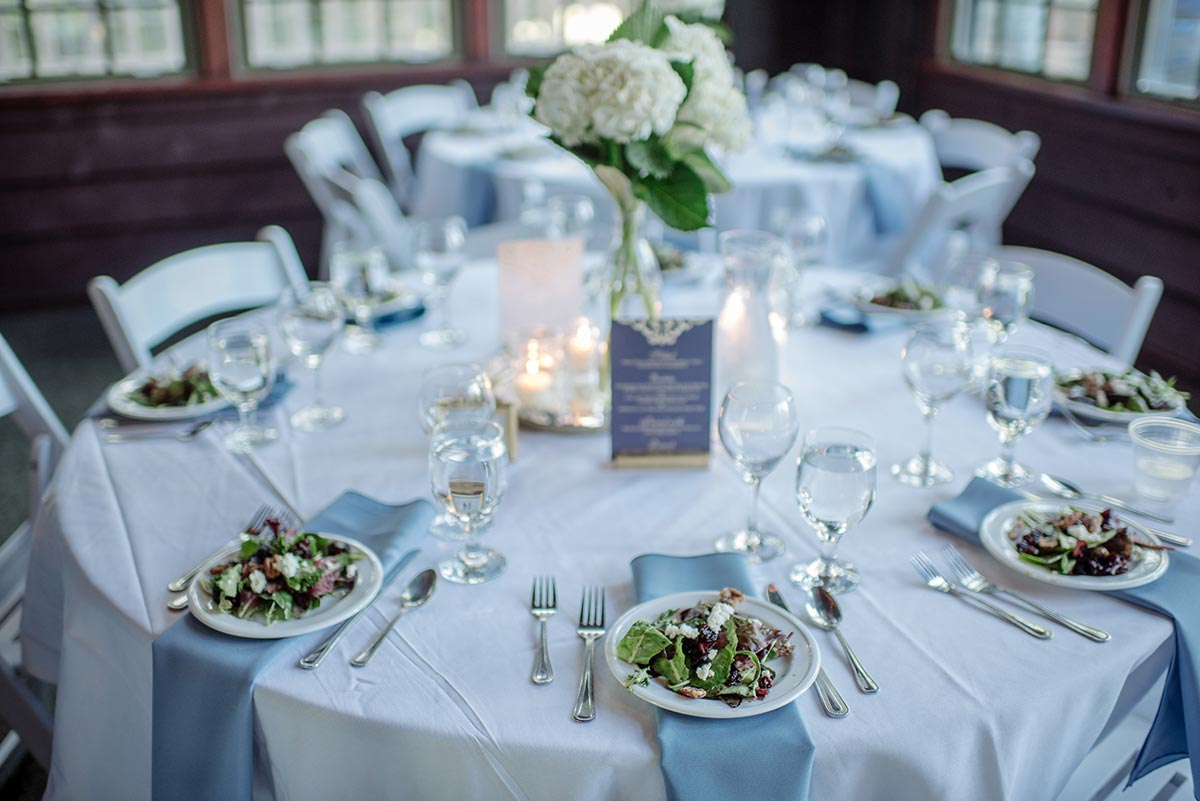 salads and tables Outdoor Minneapolis Wedding