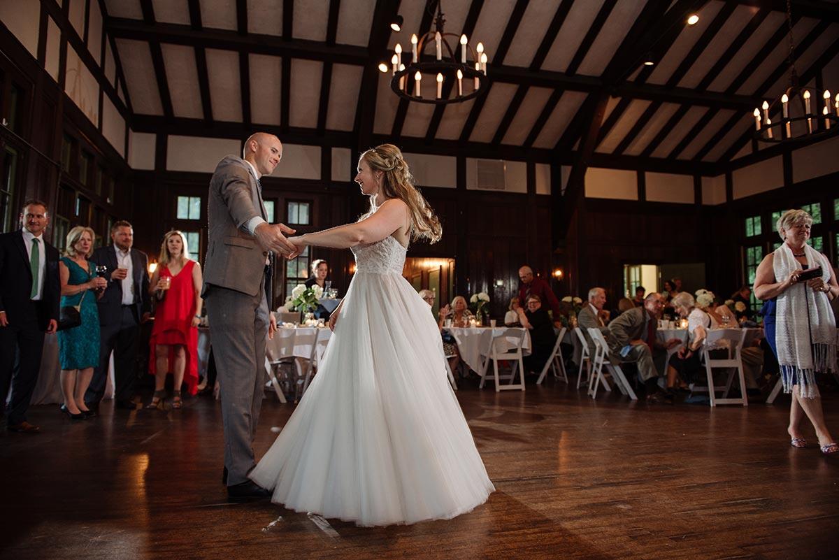 first dance Outdoor Minneapolis Wedding