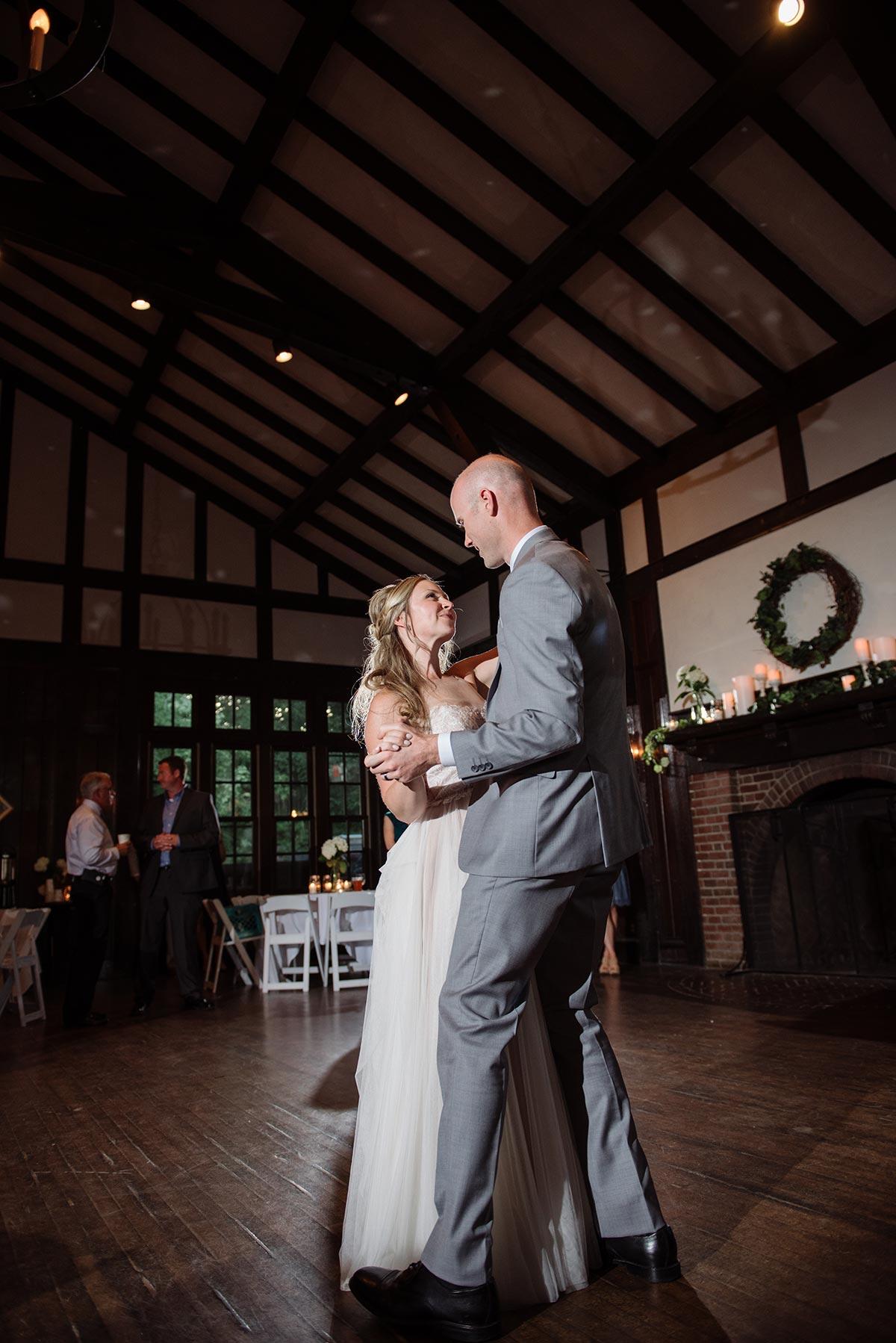 bride and groom first dance Outdoor Minneapolis Wedding