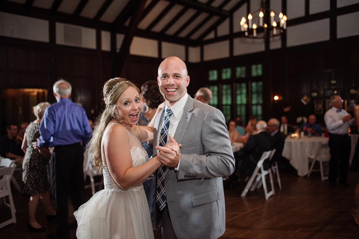 bride and brother dancing Outdoor Minneapolis Wedding