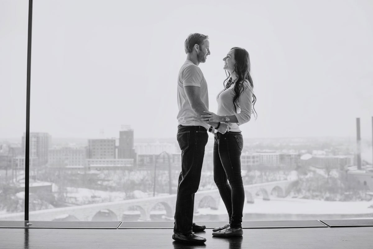 modern engagement photos minneapolis