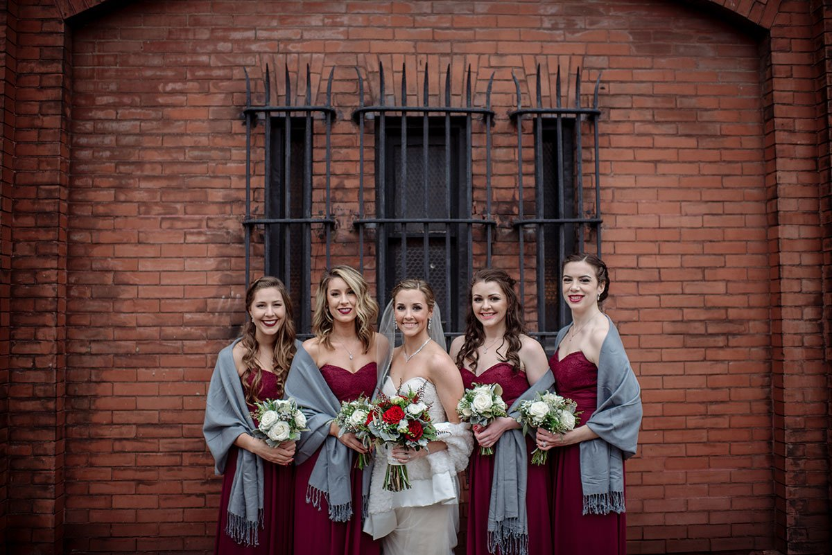 bridesmaid Aria Winter Wedding Minneapolis
