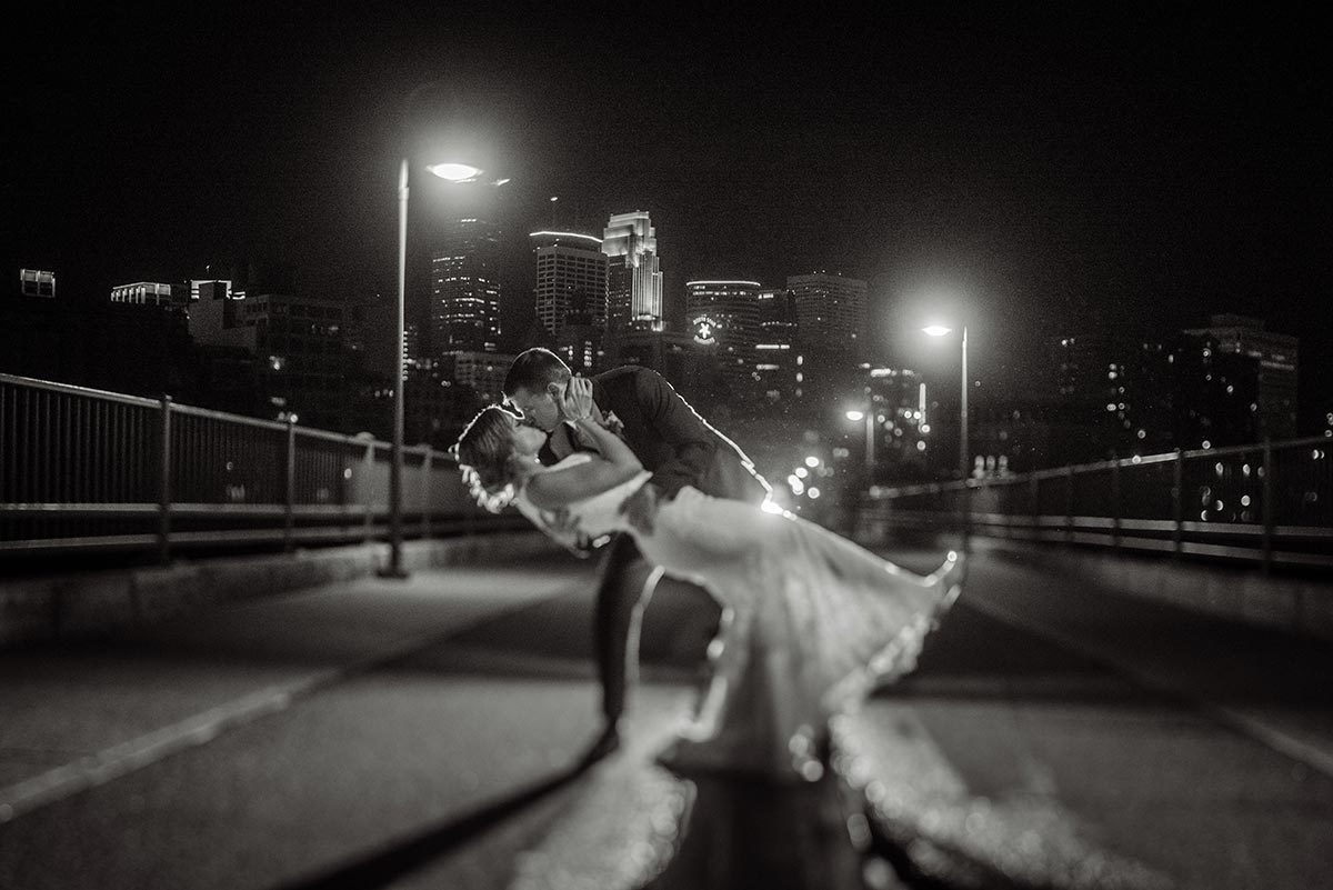 best minneapolis wedding photographer stone arch bridge tilt shift