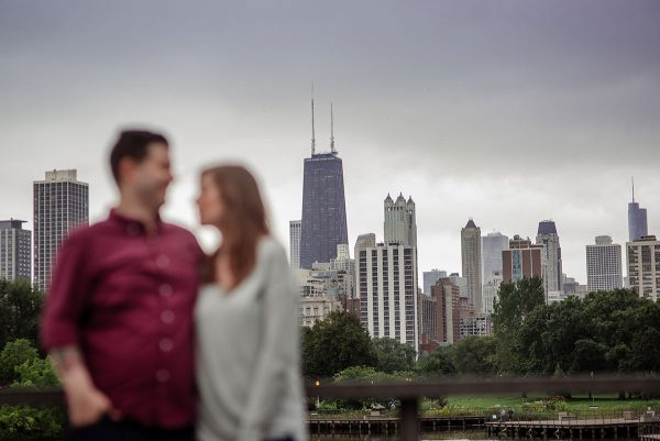 chicago engagement portraits grant park