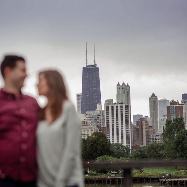 chicago engagement portraits grant park