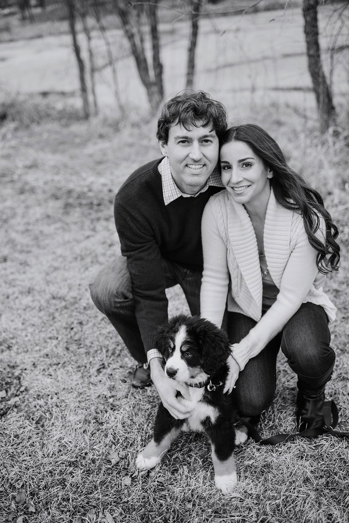 Minneapolis Engagement Photos with Puppy
