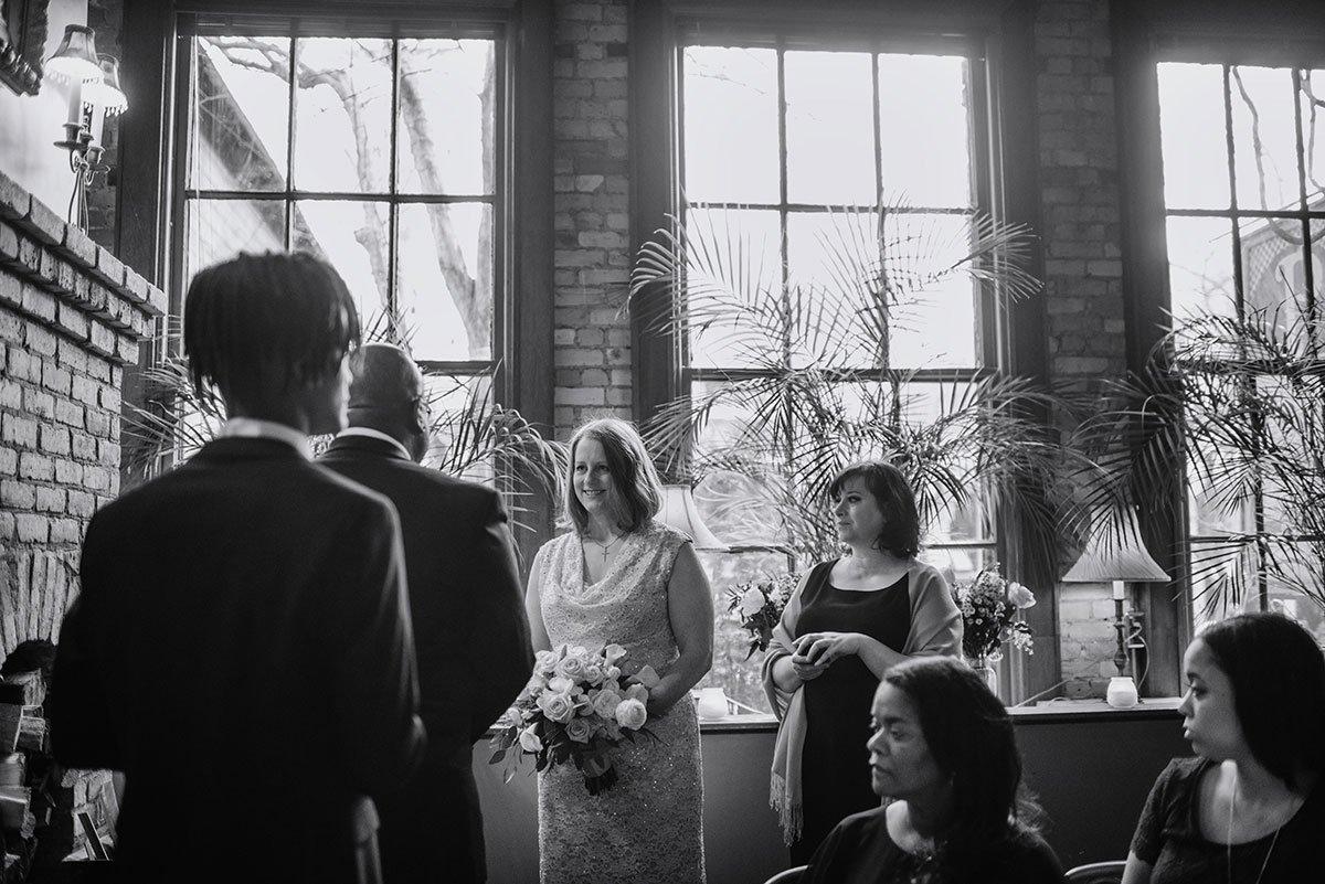 ceremony Intimate wa frost wedding st paul mn