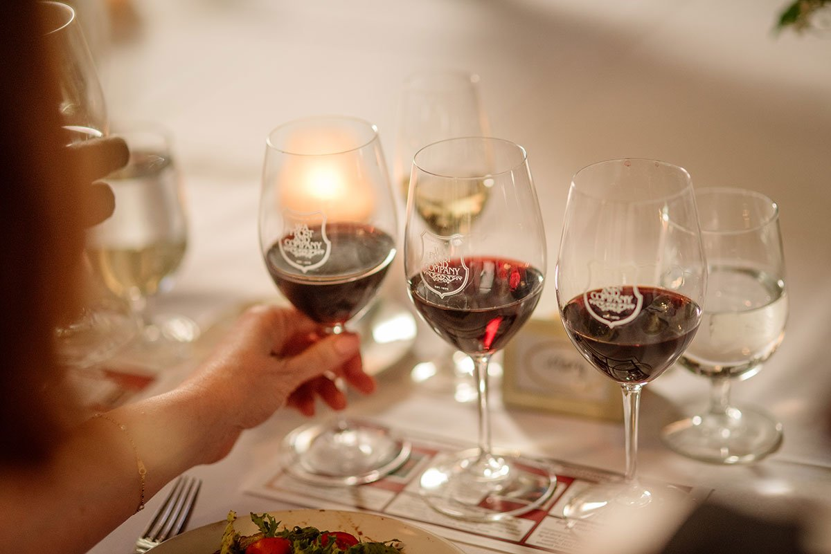 Wine pairing for Intimate wa frost wedding st paul mn