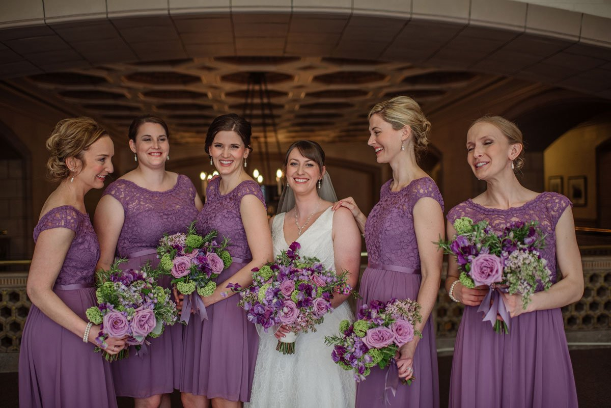 st paul athletic club wedding mn bridesmaids