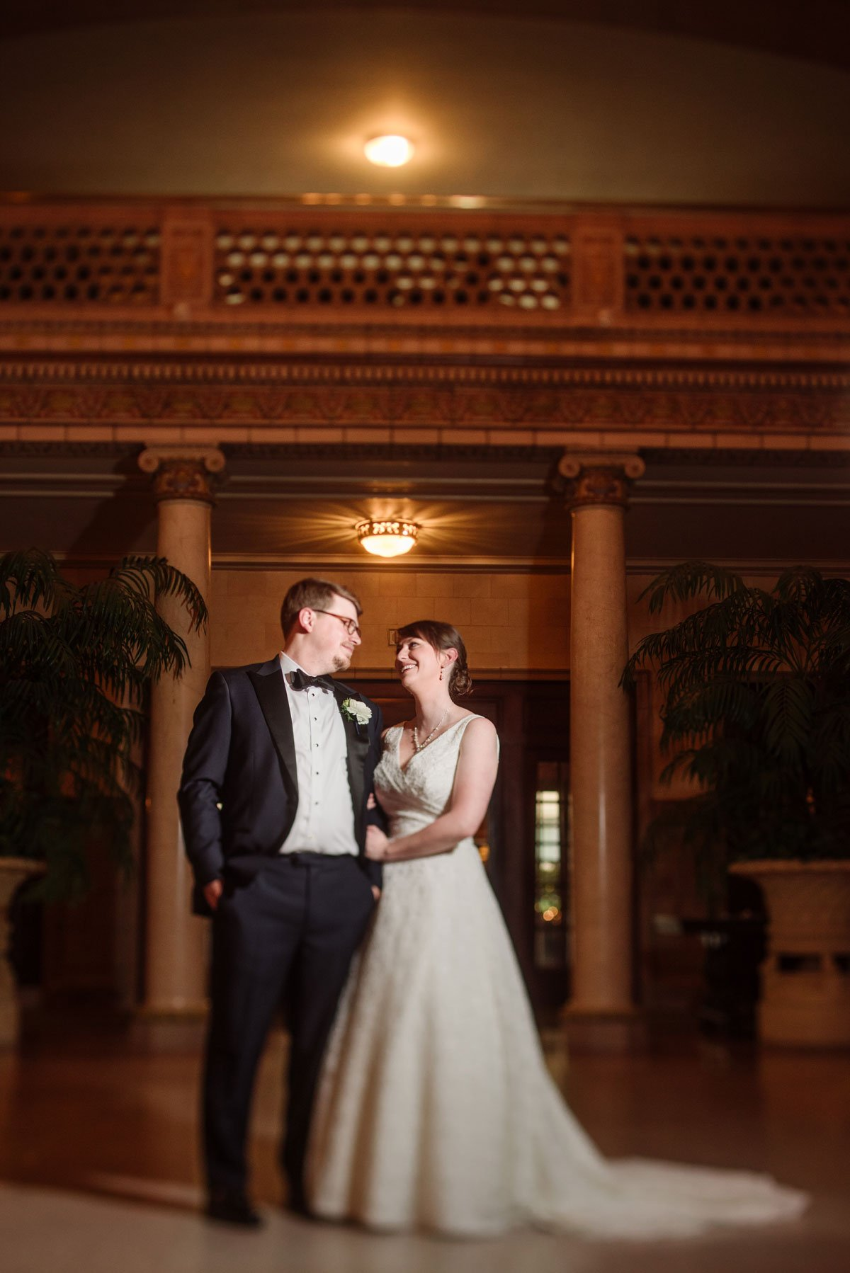 Bride And Groom At St Paul Athletic Club Wedding Mn
