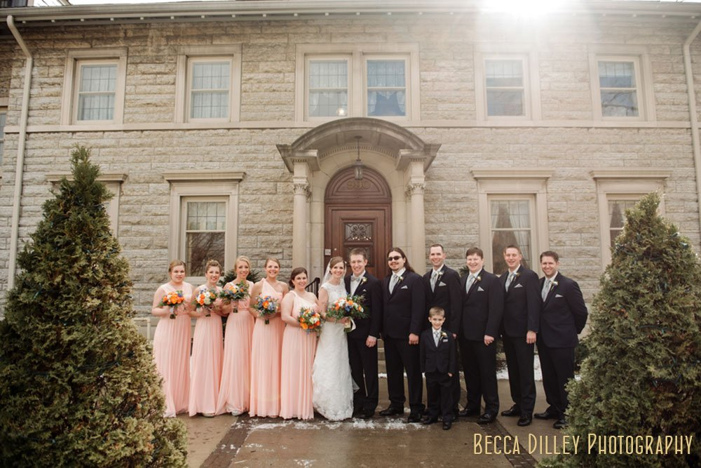 Large Wedding Party St Paul College Club Mn