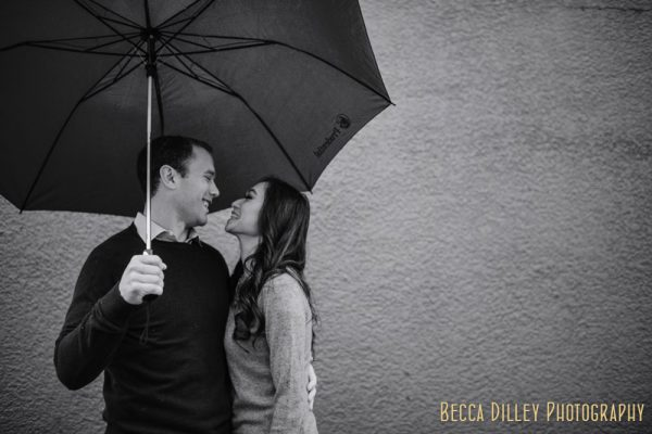 Rainy Minneapolis Engagement Portraits MN
