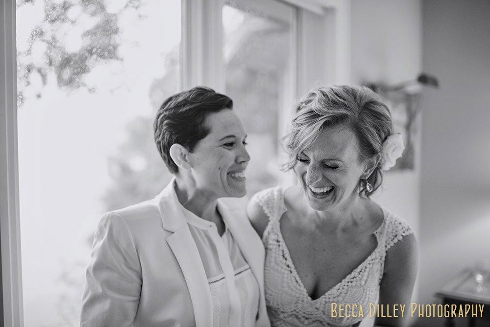 same sex Minnesota Lake Wedding