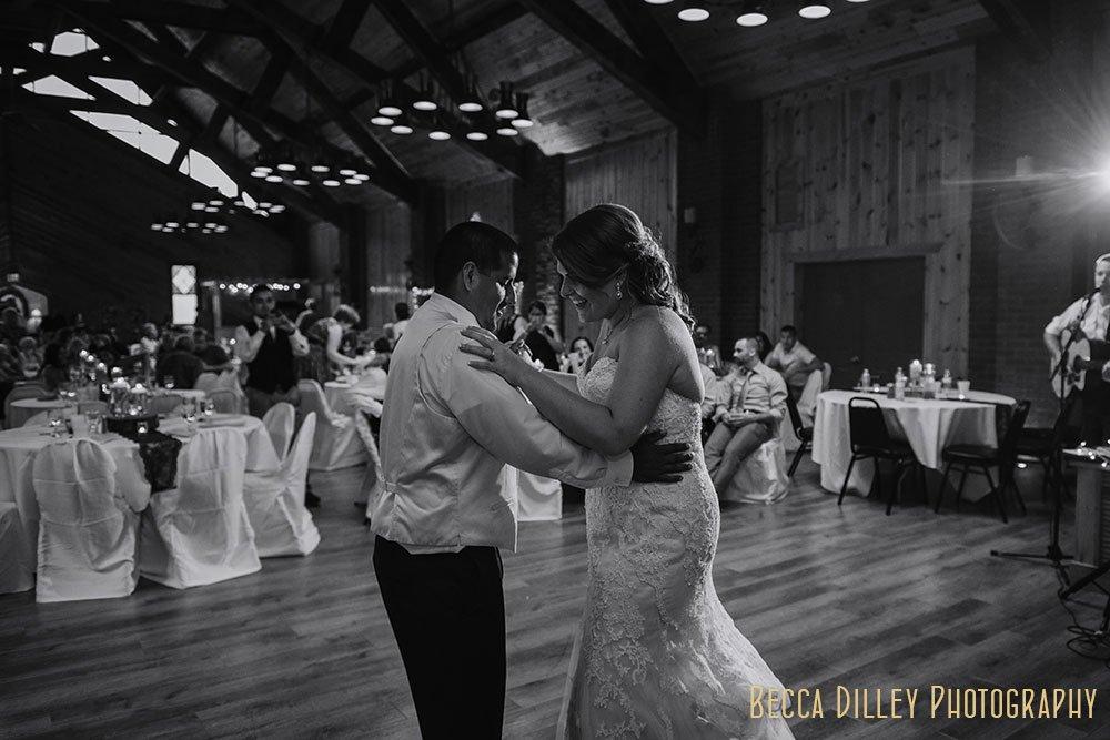 first dance MN Farm wedding