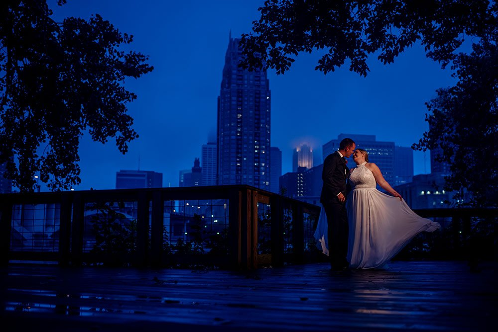 nicollet island pavilion wedding at night