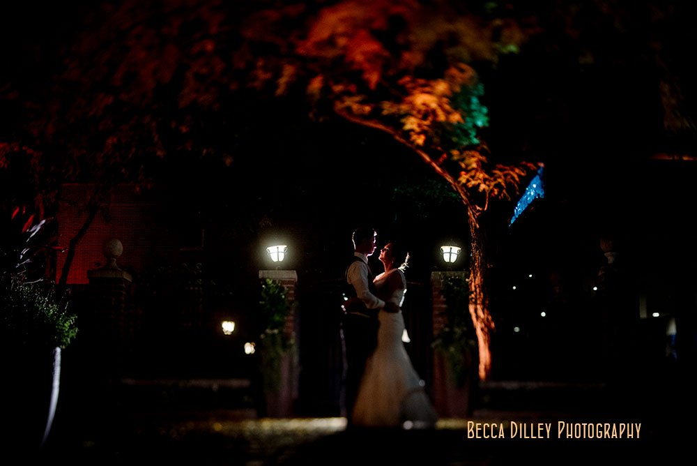 Minneapolis Event Center Wedding night portrait