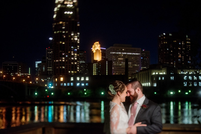 Nicollet Island Pavilion Wedding - Minneapolis Skyline
