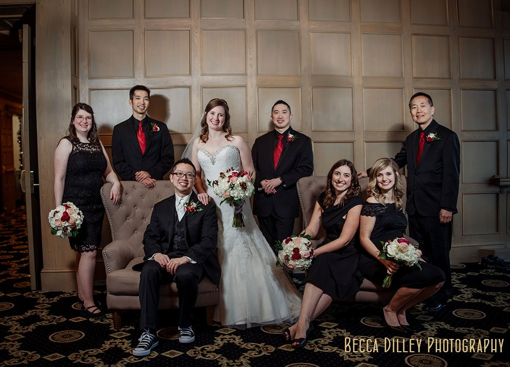 flash composite Rush Creek Golf Club Winter Wedding MN