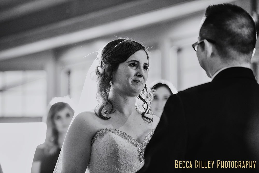 bride Rush Creek Golf Club Winter Wedding MN