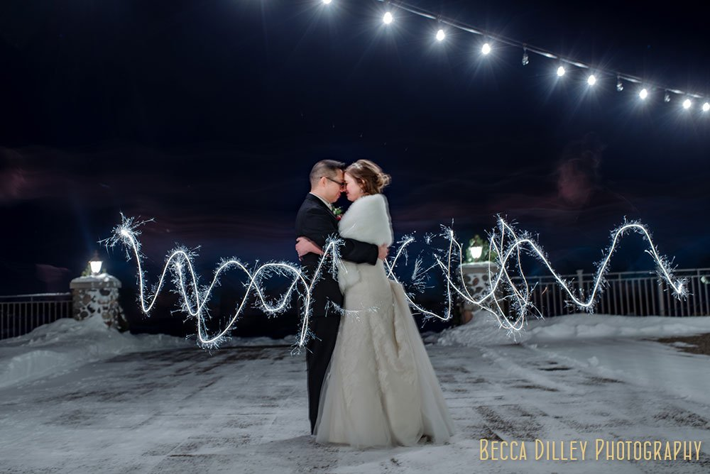 Rush Creek Golf Club Winter Wedding MN