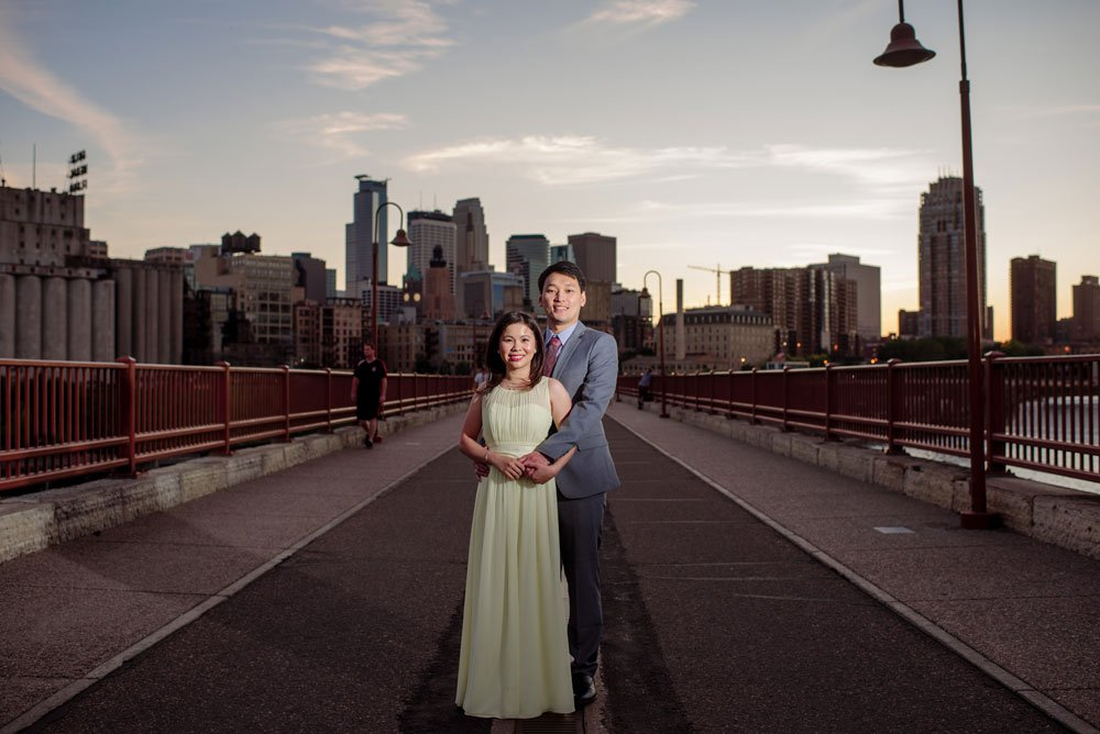 stylish engagement portraits minneapolis downtwon