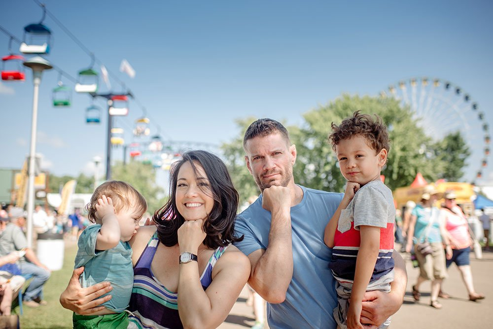 Family photos at the MN State Fair