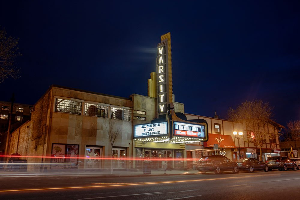 Varsity theater and Loring Restaurant Wedding