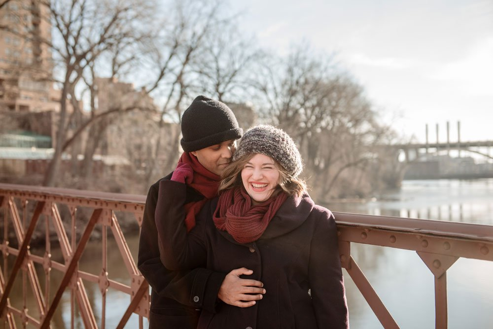 minneapolis engagement photos winter
