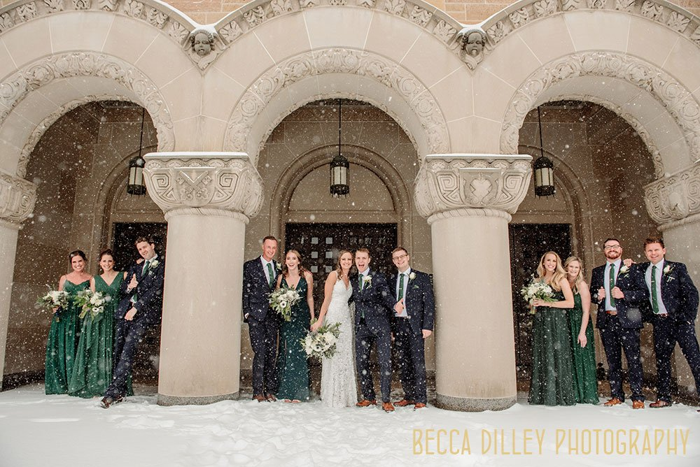 minneapolis blizzard wedding